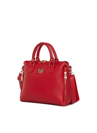 Bagmori Kadın Dik Çift Fermuarlı Askılı Çanta M000005043 Kırmızı